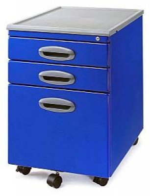 MP-01 Blue Mobile Office File Cart