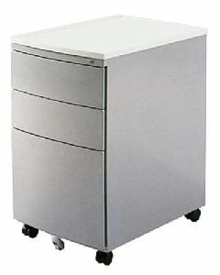MP-02 Silver Mobile Office File Cart