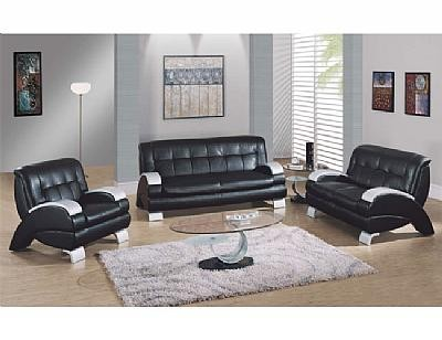 9215bl leather living room set for Complete living room sets