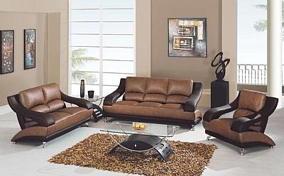 982 tan brown leather living room set for Fun living room furniture