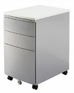 MP-04 Silver Mobile Office File Cart