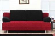 FANTASY RED and BLACK Sofa-Sleeper