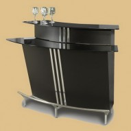 BROADWAY Contemporary Bar in BLACK - Bars and Bar Tables