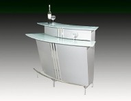 BROADWAY Contemporary Bar in Silver. Bars and Bar Tables