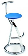 Barstool 45 Blue Seat Bar Stool