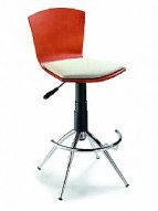 Barstool 52 Cherry/Cream Swivel Adjustable Bar Stool