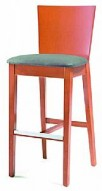 Barstool 82 Cherry/Grey Natural Wood Bar Stool