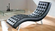 7900 Black Leather Relax Chair