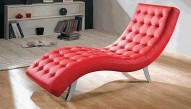 7900 Red Leather Relax Chair