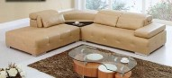 PARIS Sectional HONEY Leather