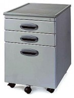 MP-01 Silver Mobile Office File Cart