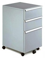 MP-03 Silver Mobile Office File Cart