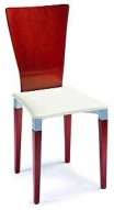 Side-L Cherry and Ivory Dining Chair