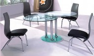 9090 Modern Glass Dining Table