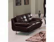9108BR Leather Loveseat