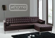 F14 Sectional Sofa - BROWN