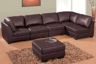 215 Leather Sectional