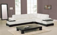 771-WH Leather Sectional